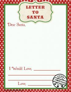 Free Dear Santa Printable Set  Dear Santa Santa And Free
