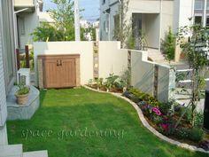 洋風ガーデン 芝生 物置 ディーズガーデン カンナミニ
