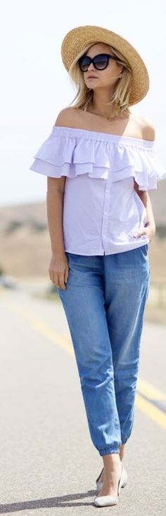 Off The Shoulder Top Casual Style by Late Afternoon