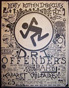 Old Punk Flyers - D.R.I., Offenders