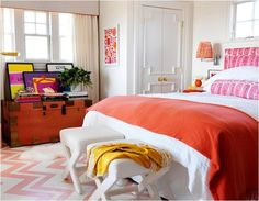 orange and pink rooms | orange and pink bedroom mona ross berman