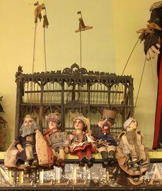 "Marionettes at ""Nest"",  Fillmore Street, San Francisco, Ca."