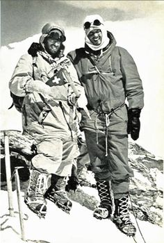 Dhaulagiri first ascent - Peter Diener and Ernst Forrer, 13th May 1960.