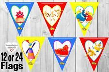 Twirlywoos bunting blue yellow red birthday party banner bunter flag party decor