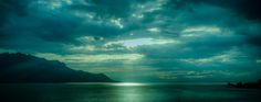 Let there be light, Lake Geneva, Montreux, Switzerland