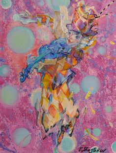 SONGE DE CLOWN / Dimensions : 89 cm x 116 cm / Techniques de réalisation : Acrylique / Date de création : 2012 / Support : Toile / Tarif : http://www.art-acquisition.com/fr/content/songe-de-clown