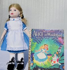 Alice in wonderland 12 inches cloth doll story by ParisJavaDolls