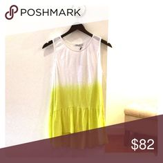 Redhaute top White and yellow ombre top Red haute Tops