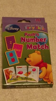 disney pooh's number match cards new