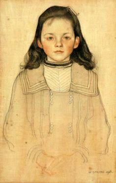 William Strang: portrait of Nellie Billsland
