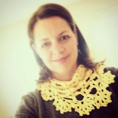 Haak-en-stekie: What I made with Moya - A yellow lacy scarf Stitch, Yellow, Crochet, Gifts, Fashion, Moda, Full Stop, Presents, Fashion Styles