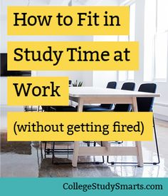 Cut down the overwhelm of balancing school and work + Maximize each day by finding study time at work   Study Tips for College, study tips, college study tips, university study tips, online student study tips, online course study tips, study strategies, study faster, study better, study habits, study hacks, study schedule, college study skills, how to study in college, online study tips