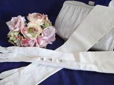 Vintage Mid Century Creamy White Opera Gloves by SecondWindShop, $18.00