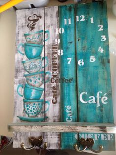 Arte Pallet, Pallet Art, Wood Crafts, Diy And Crafts, Decoupage Vintage, Home And Deco, Wood Pallets, Wooden Signs, Painting On Wood