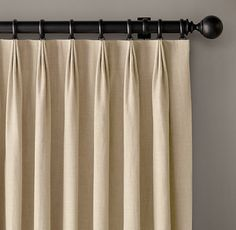 Custom Belgian Textured Linen Tailored-Pleat DraperySelect Colors On Sale House Cleaning Checklist, Rh Rugs, Pleated Curtains, Cottage Furniture, Medicine Cabinet Mirror, Modern Shop, Curtain Designs, Drapery, Window Treatments