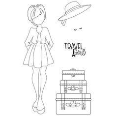 Presenting: Traveling Girl — Art Philosophy Prima Paper Dolls, Prima Doll Stamps, Julie Nutting, Prima Watercolor, How To Make Banners, Prima Marketing, Journaling, Small Cards, Simon Says Stamp
