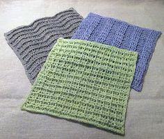 Virkmönster: Disktrasa i lin x 3 / Dishcloth in linen x 3 Crochet Kitchen, Crochet Home, Knit Crochet, Knitting Patterns, Crochet Patterns, Crochet Dishcloths, Textiles, Learn To Crochet, Yarn Crafts