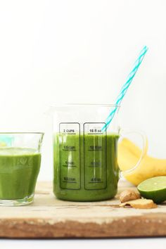 Allow me to introduce my favorite green smoothie. As in, ever. Yes, I may have had favorites before, and there may be new favorites in the future, but for the past 3+ years, this has been my go-to. If