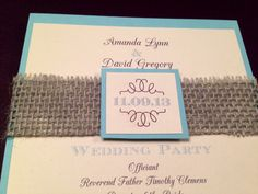 Rustic Wedding Programs with Burlap and Name by InvitationsbyErin