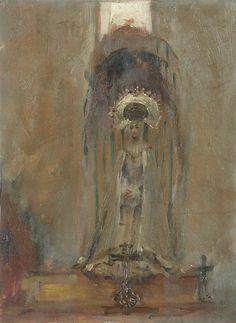 """""""A Spanish Madonna"""", John Singer Sargent, oil on wood, 1879-1880"""