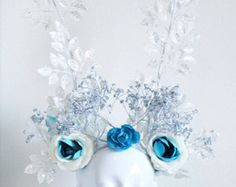 Frost Headdress~One of a Kind~ Snow Queen Costume, Headdress, Frost, Disney Princess, Unique, Handmade, Etsy, Hand Made, Fascinators