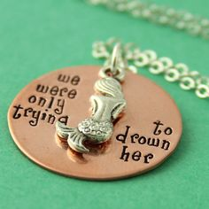 Peter Pan Necklace  Mermaids of the Lagoon  We by SpiffingJewelry, $26.00