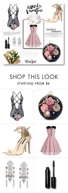 """""""Rosegal 44/60"""" by zina-lami ❤ liked on Polyvore featuring WithChic, Bobbi Brown Cosmetics and vintage"""