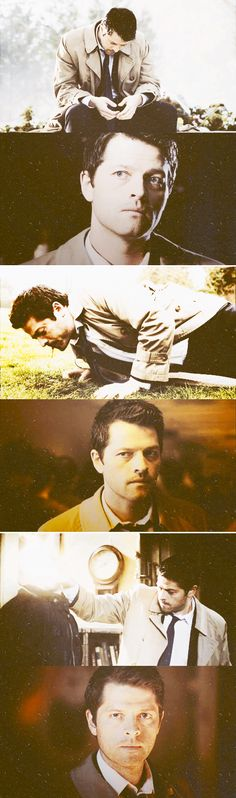 "Castiel: ""… And of course, I remember the most remarkable event - remarkable because it never came to pass. It was averted by two boys, an old drunk, and a fallen angel. The grand story. And we ripped up the ending, and the rules, and destiny, leaving nothing but freedom and choice. Which is all well and good, except… well, what if I've made the wrong choice? How am I supposed to know? But I'm getting ahead of myself. Let me tell you my story. Let me tell you everything."" #spn"