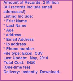 #canadianmailinglist http://www.latestmailinglist.com/canadian-email-mailing-list/