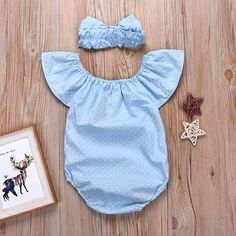 Polka Dotted Flare Sleeves Bodysuit and Headband for Baby Girl Family Outfits, Girl Outfits, Baby List, Designer Kids Clothes, Baby Girl Headbands, Baby Outfits Newborn, Cute Baby Clothes, Mom And Baby, Girl Style