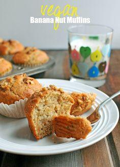 Silk Almondmilk + {Vegan Banana Nut Muffins} | Nosh and Nourish