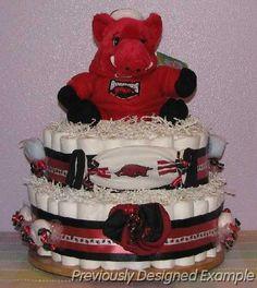 Razorback Diaper Cake