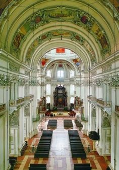 Salzburg Cathedral, Salzburg Austria.  http://www.travelandtransitions.com/austria-travel/