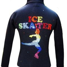 Ice Skating Jacket with Rainbow Ice Skater Design https://figureskatingstore.com/brands/Ice-Fire.html Rainbow Ice Skater Jacket featuring 7 colors rhinestones and Landing skater position. Fitted style without a hood and high performance Polartec fabric ideal for ice skating that demand freedom of movement, moisture management, and warmth. #figureskatingstore #figureskating #sport #iceskating #skating #figureskater #iceskate #фигурноекатание #icering #ice #icefire #icedance