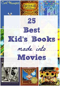 Wonderful kids picture books & chapter books that are also super fun movies -- perfect for summer reading!
