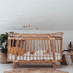 Little Merchants - all things baby - Sweet dreams darling Olive 🌙 . Is this not one of the most devine cots you've ever seen? Baby Bedroom, Baby Room Decor, Nursery Room, Girl Nursery, Kids Bedroom, Kids Rooms, Room Baby, Boho Nursery, Baby Bedding