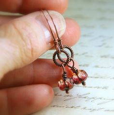 Sangria With A Twist Dainty Twisted Copper by AllowingArtDesigns