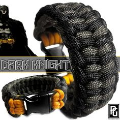 The Dark Knight themed paracord bracelet. Available @ www.paragearz.com