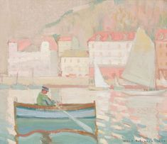 Albert H. Robinson - Nice x Oil on canvas Oil On Canvas, Landscape, Nice, Artist, Painting, Painting Art, Landscape Paintings, Paintings, Painted Canvas