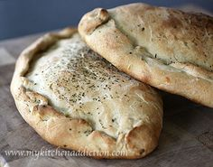Chicken Pesto Calzones