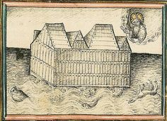 Master Alexander. The Ark of Noah floating on the waters, ca. 1430