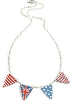 British Flag Banner Necklace