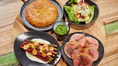 Family Food Fight: Matt Moran's Stuffed Lamb Saddle with Mushroom and Spinach, Potato Galette Stuffed Mushrooms, Stuffed Peppers, Lamb Recipes, Dinner Recipes, Potato Galette, Fried Brussel Sprouts, Lamb Ribs, Christmas Lunch, Pickle