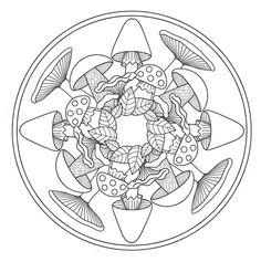 Kleurplaten Herfst Mandala.37 Beste Afbeeldingen Van Herfst Kabouters Paddenstoelen