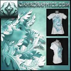 """Women's t-shirt design created by GahrGraphics.com featuring """"Mother Nature"""".  Dye sublimated graphics printed on Vapor Apparel."""