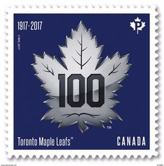 2017 Canada Hockey NHL Toronto Maple Leaf Centenary Single Stamp From Booklet Canada MNH - Booklets Toronto Maple Leafs Wallpaper, Canada Hockey, Maple Leafs Hockey, Hockey Logos, Hockey Baby, Anniversary Logo, Stamp Collecting, Art Logo, Postage Stamps