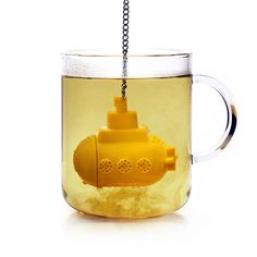 Yellow Submarine Tea Infuser makes the ideal gift for anyone who loves using loose tea! Simply fill your cup or teapot with boiling water and immerse the submarine! The Yellow Submarine Tea Infuser is really effective when using a glass mug or teapot. Yellow Submarine, Tea Diffuser, Design3000, Tea Strainer, Loose Leaf Tea, Mellow Yellow, Yellow Art, Colour Yellow, Tea Time