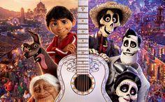 Download wallpapers Coco, 4k, 3d-animation, 2017 movie, Miguel, Abuelita, Dante, Hector, Pixar
