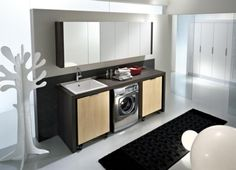 Interior:Laundry Room Design: Organize And Inspiration Very Innovative Laundry Room Design Idea Featuring Mounted Wall Cabinet And Sink And Also Cabinet And Washing Machine Under The Sink