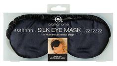 Amazon.com: Aroma Home Satin Eye Mask Black: Health & Personal Care